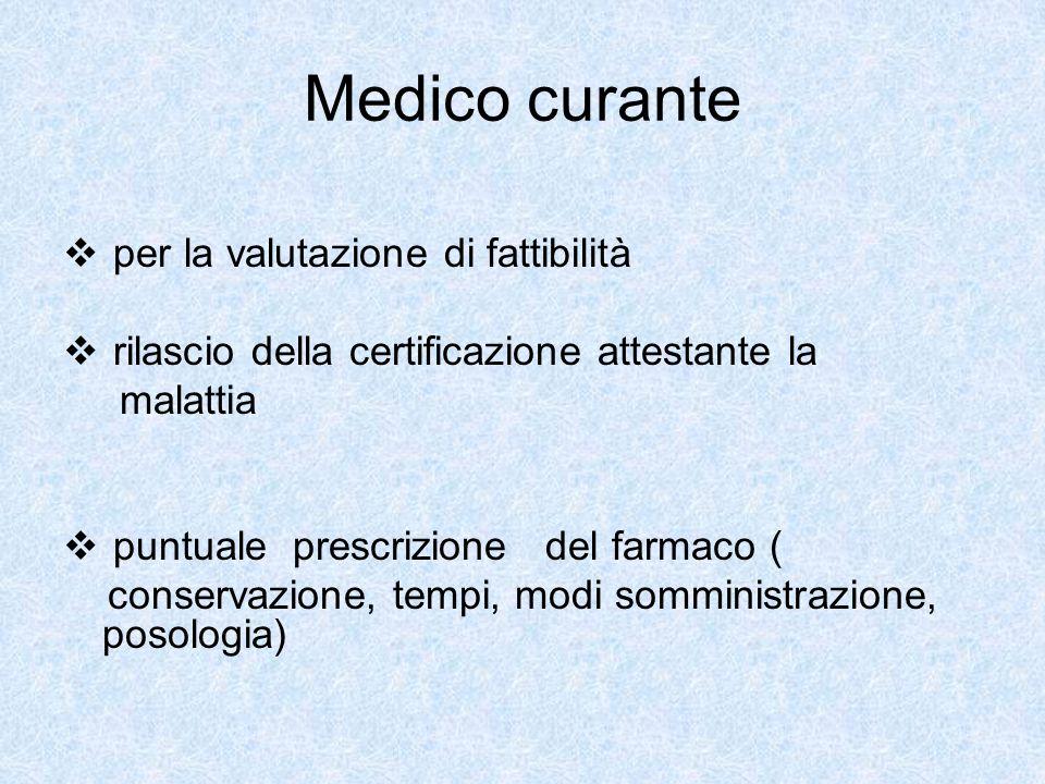 Medico curante per la valutazione di fattibilità