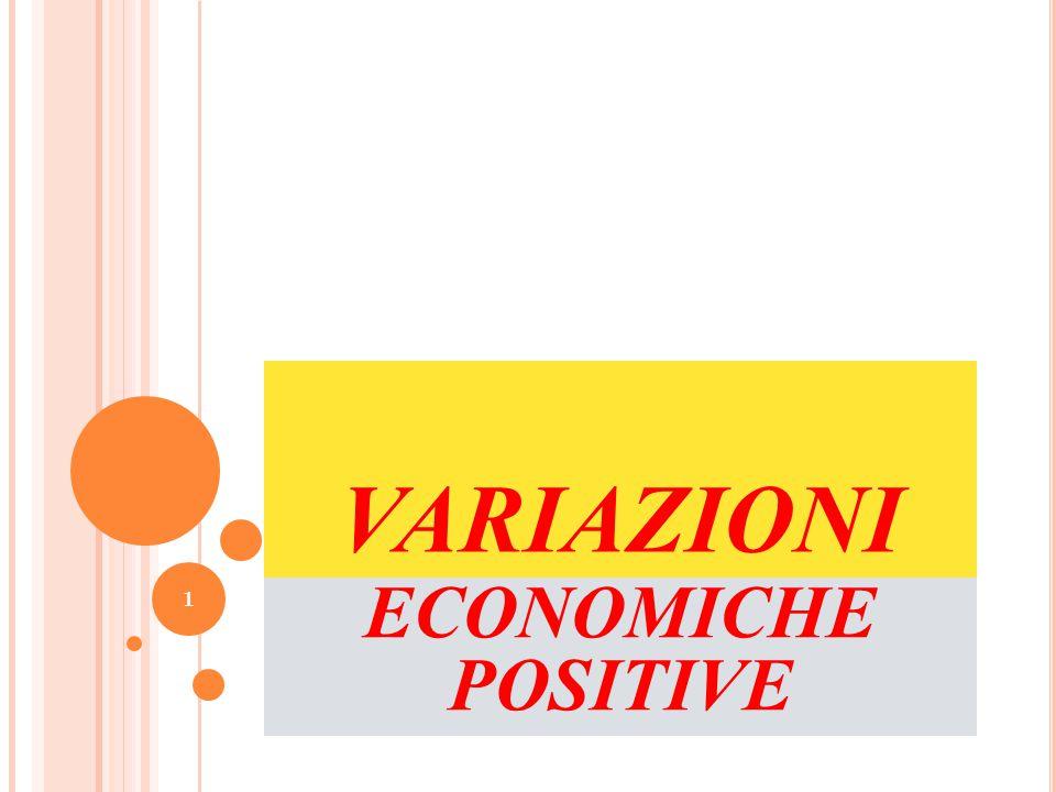 VARIAZIONI ECONOMICHE POSITIVE