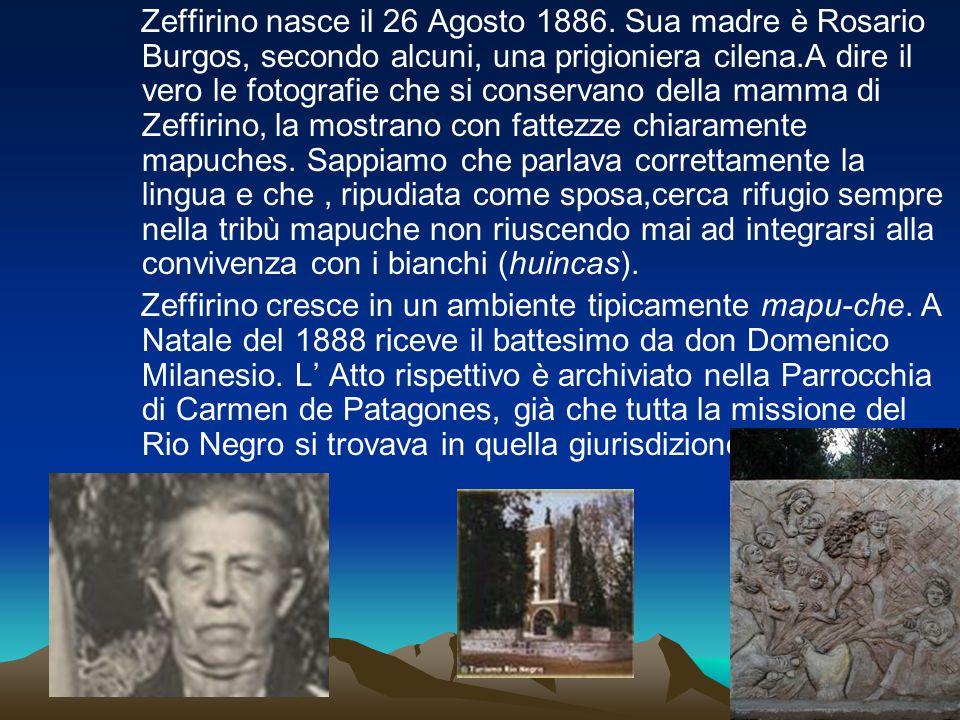 Zeffirino nasce il 26 Agosto 1886
