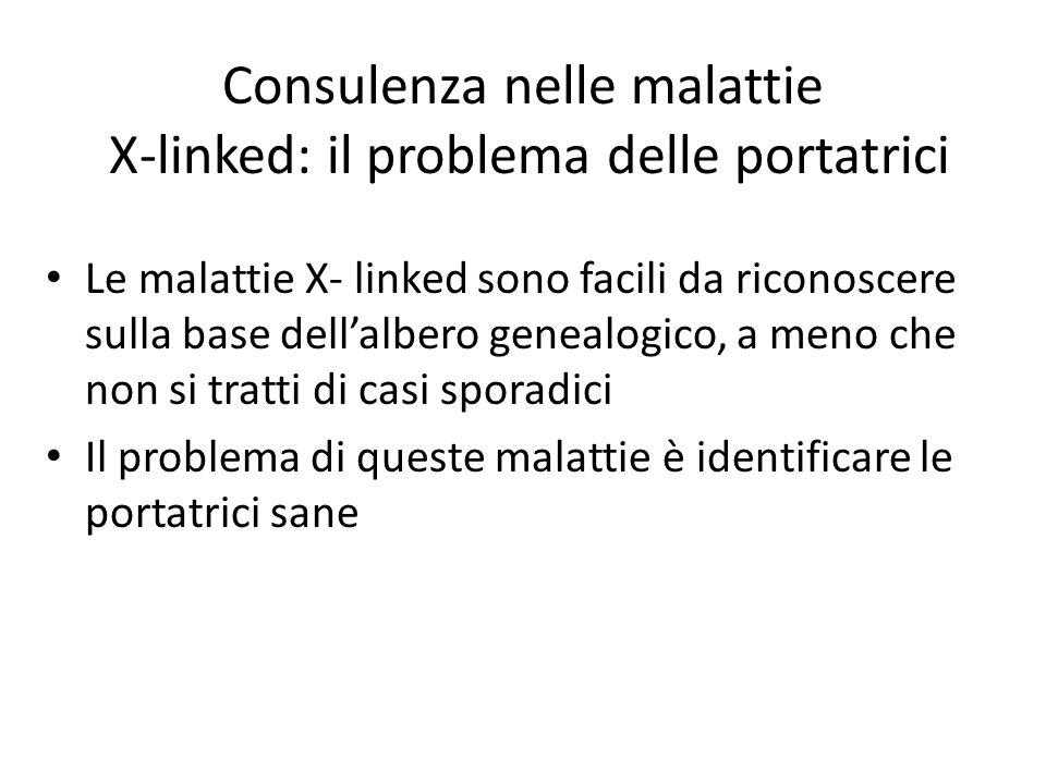 Consulenza nelle malattie X-linked: il problema delle portatrici
