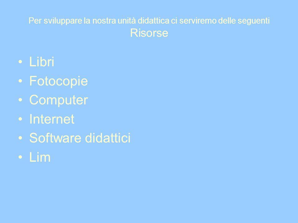 Libri Fotocopie Computer Internet Software didattici Lim