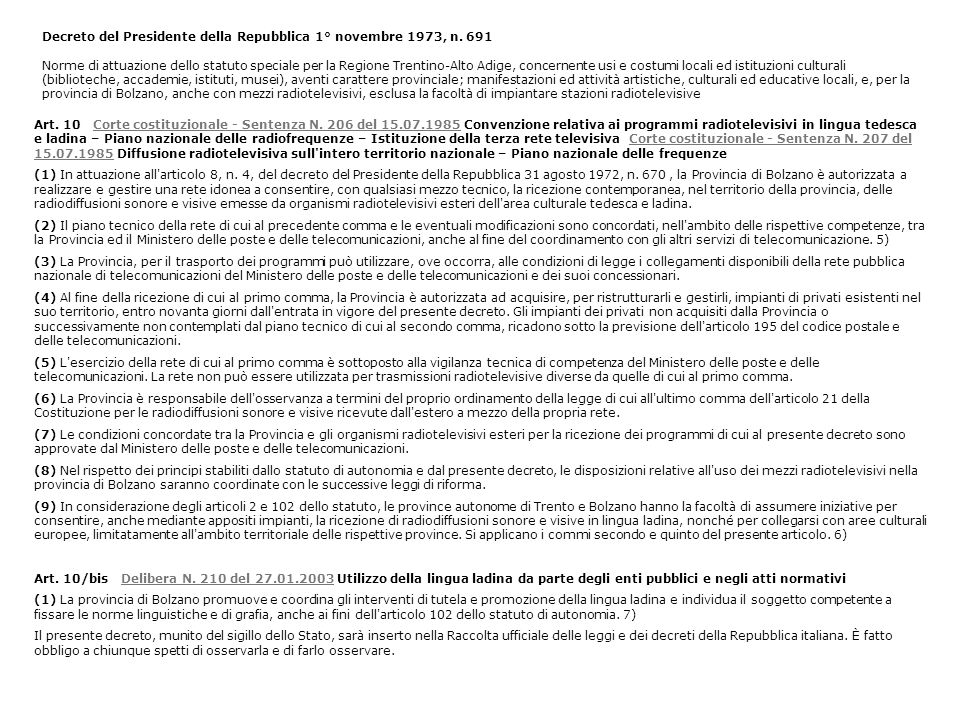 Decreto del Presidente della Repubblica 1° novembre 1973, n