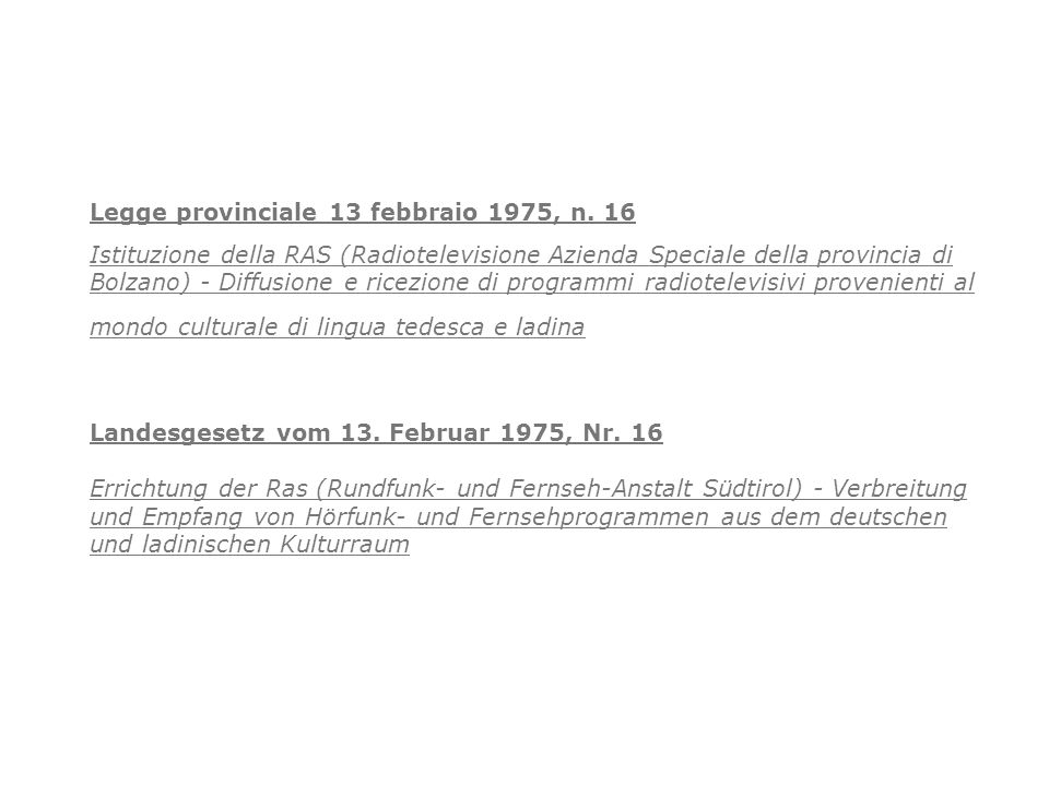 Legge provinciale 13 febbraio 1975, n. 16