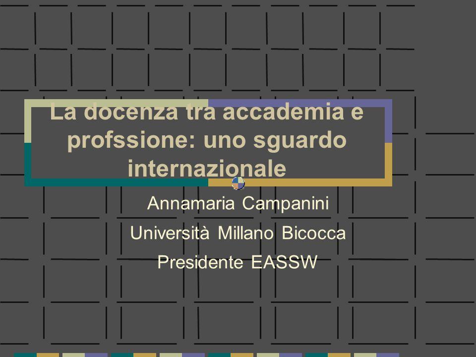 La docenza tra accademia e profssione: uno sguardo internazionale