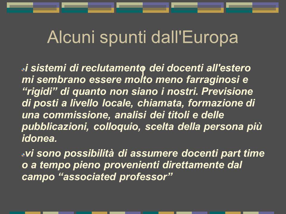 Alcuni spunti dall Europa