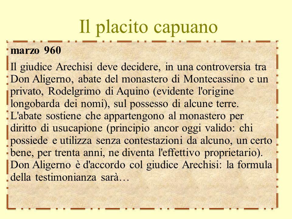 Il placito capuano marzo 960