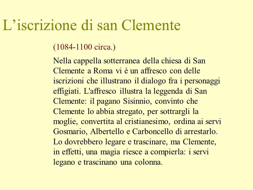 L'iscrizione di san Clemente