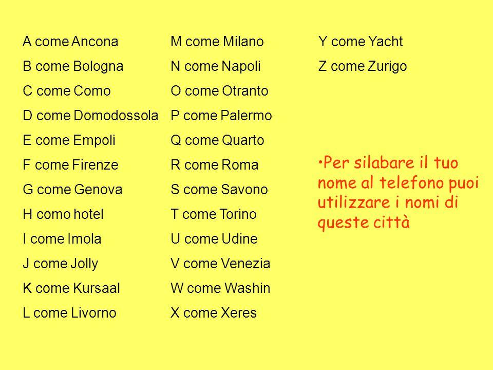 A come Ancona M come Milano Y come Yacht