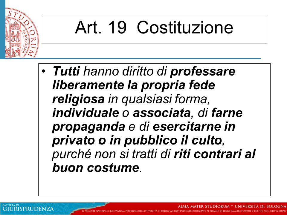 Art. 19 Costituzione