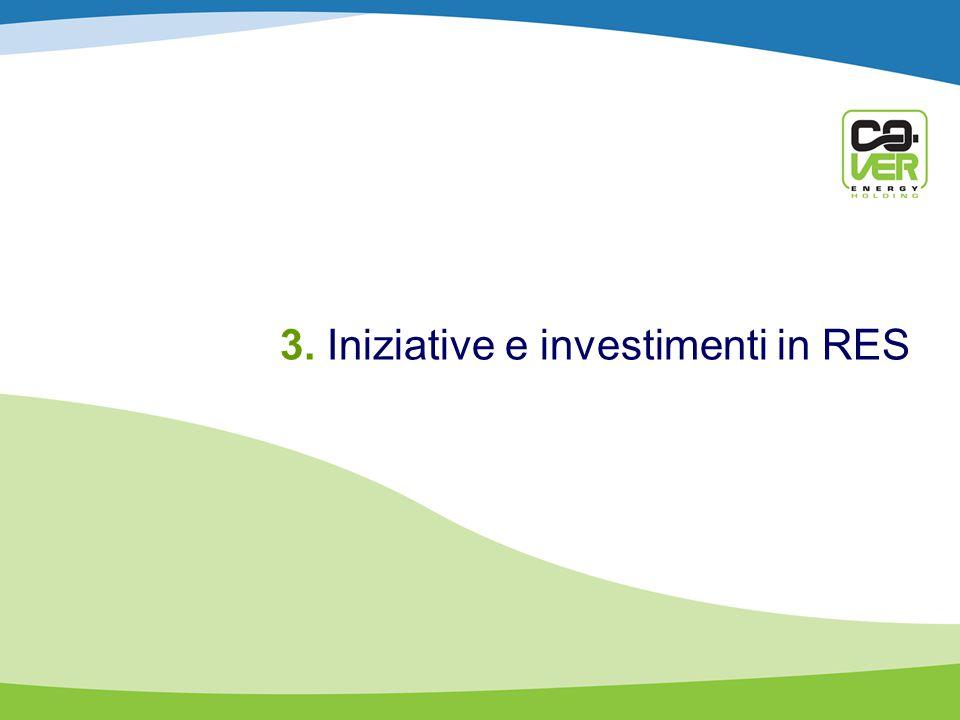 3. Iniziative e investimenti in RES