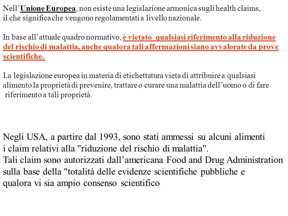 Negli USA, a partire dal 1993, sono stati ammessi su alcuni alimenti