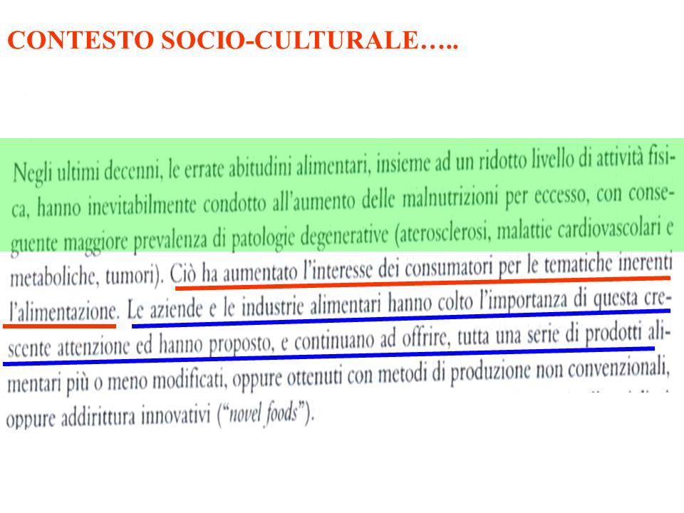 CONTESTO SOCIO-CULTURALE…..