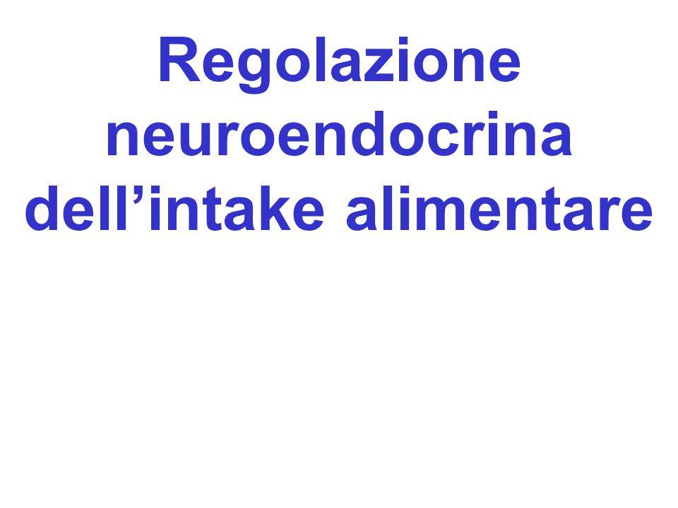 Regolazione neuroendocrina dell'intake alimentare