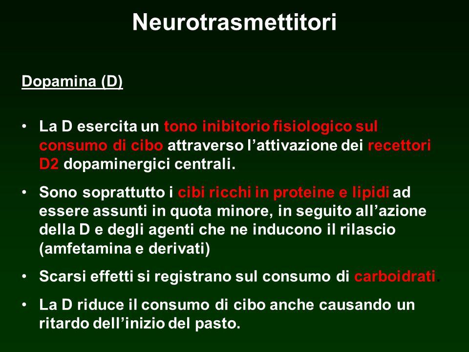 Neurotrasmettitori Dopamina (D)