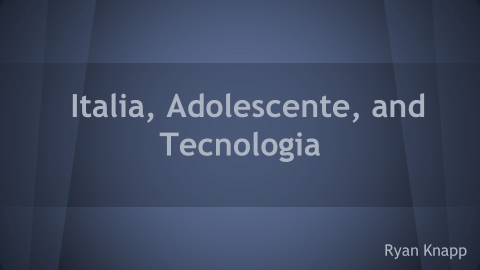 Italia, Adolescente, and Tecnologia