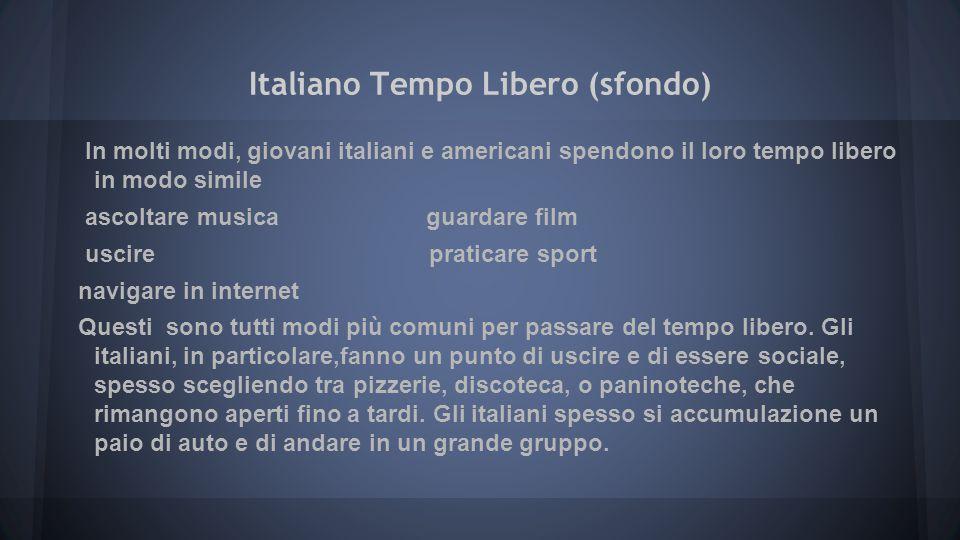 Italiano Tempo Libero (sfondo)