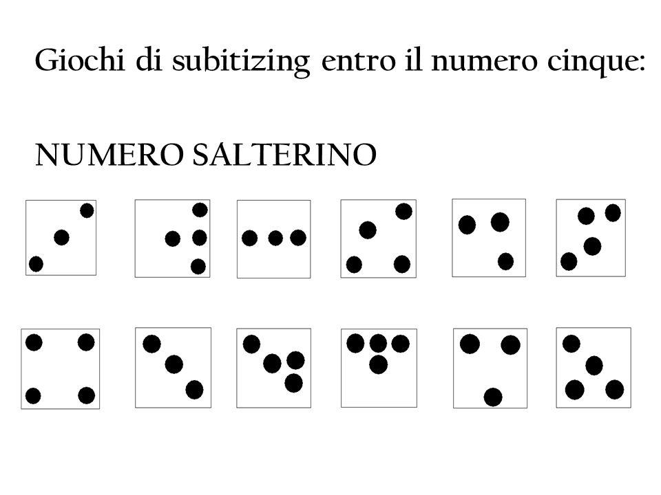 Giochi di subitizing entro il numero cinque: