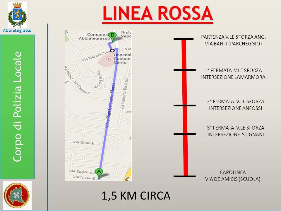 LINEA ROSSA 1,5 KM CIRCA Corpo di Polizia Locale