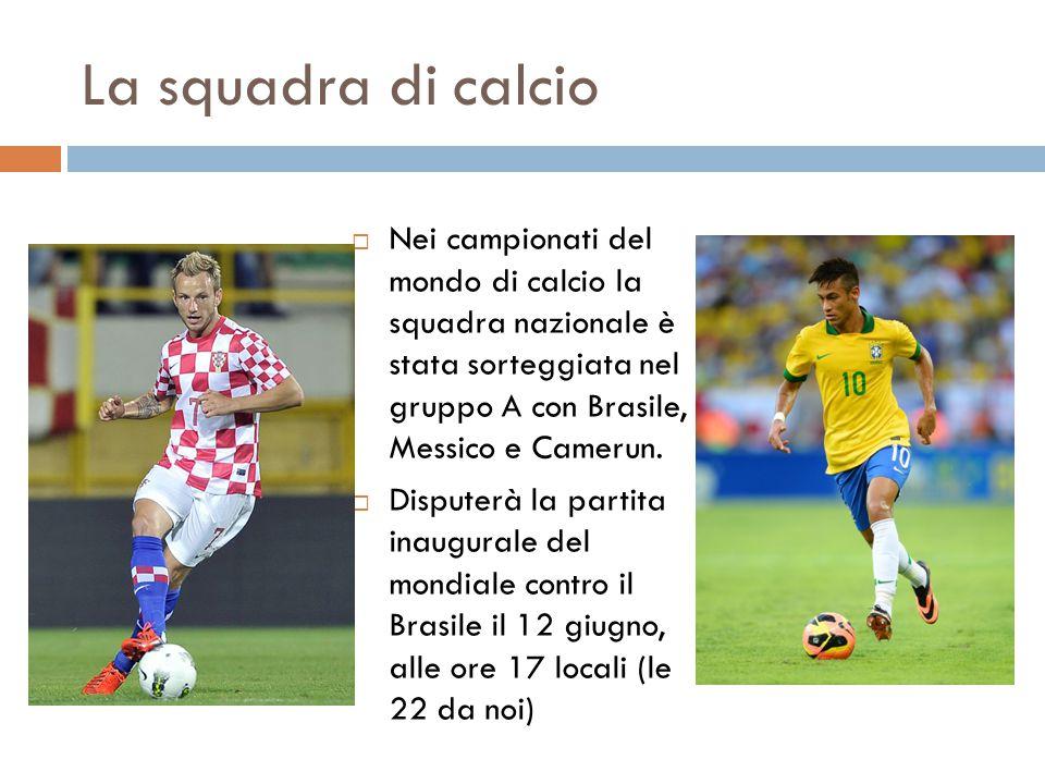 La squadra di calcio Nei campionati del mondo di calcio la squadra nazionale è stata sorteggiata nel gruppo A con Brasile, Messico e Camerun.