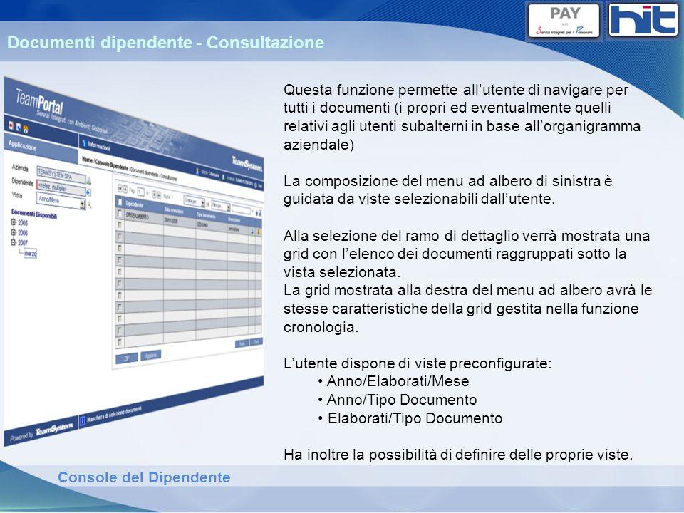 Documenti dipendente - Consultazione