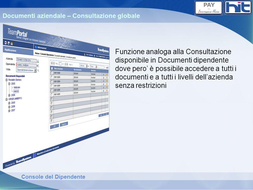 Documenti aziendale – Consultazione globale