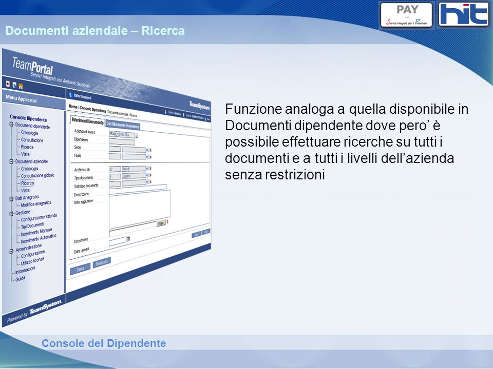 Documenti aziendale – Ricerca