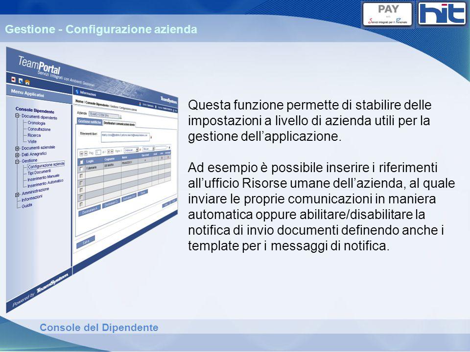 Gestione - Configurazione azienda