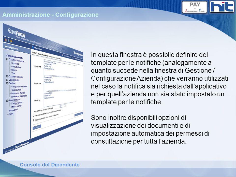 Amministrazione - Configurazione