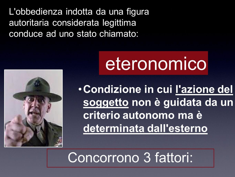 eteronomico Concorrono 3 fattori: