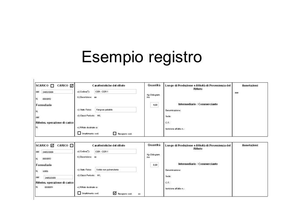 Esempio registro