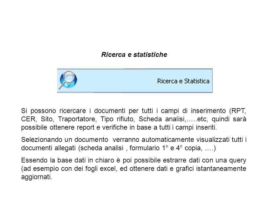 Ricerca e statistiche
