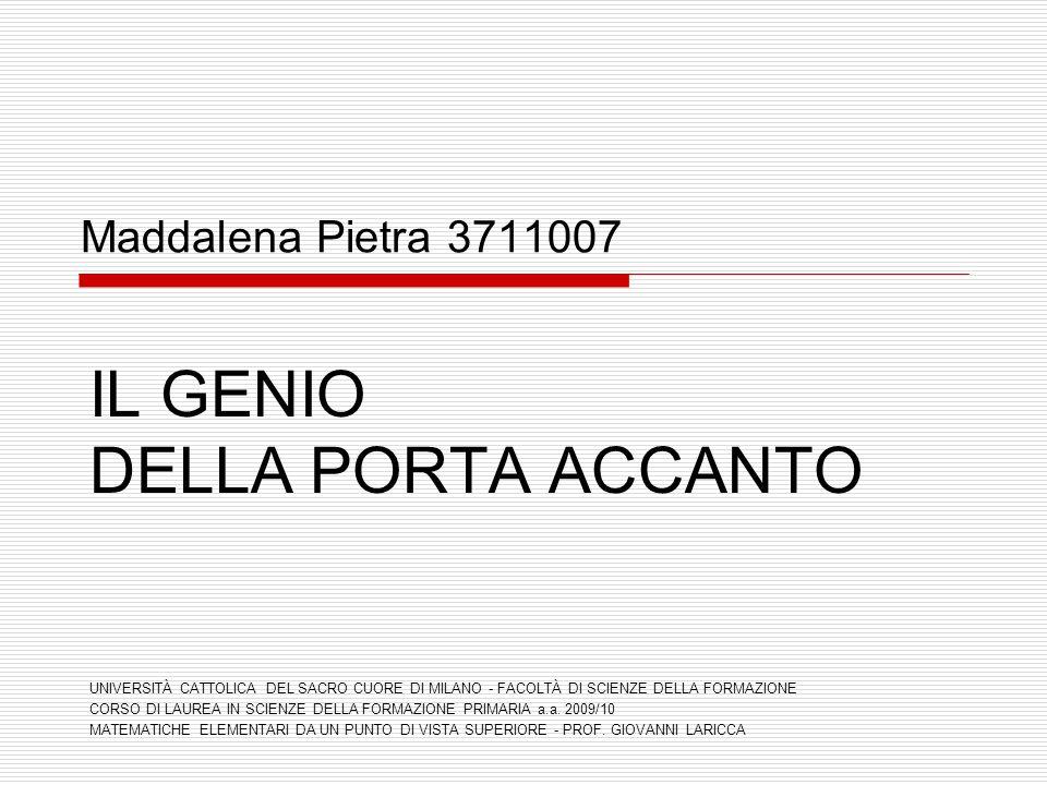 IL GENIO DELLA PORTA ACCANTO