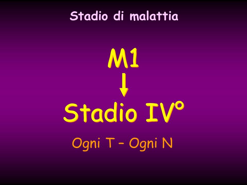 M1 Stadio IV° Ogni T – Ogni N Stadio di malattia