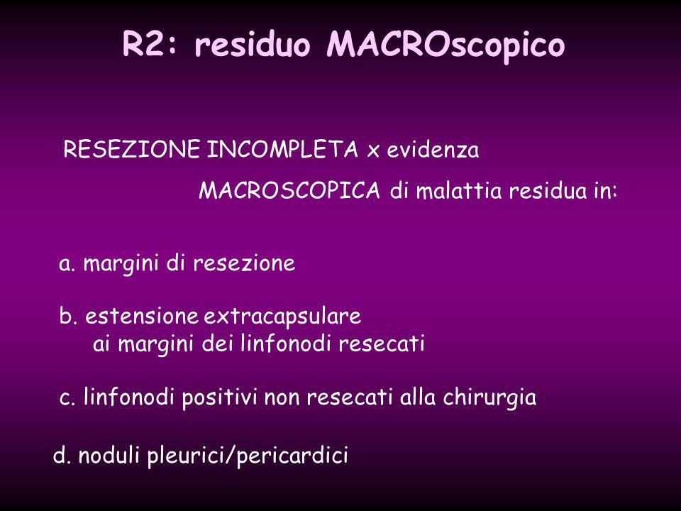 R2: residuo MACROscopico