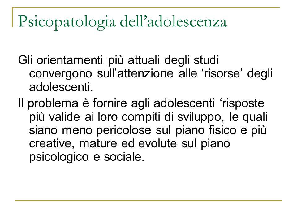 Psicopatologia dell'adolescenza