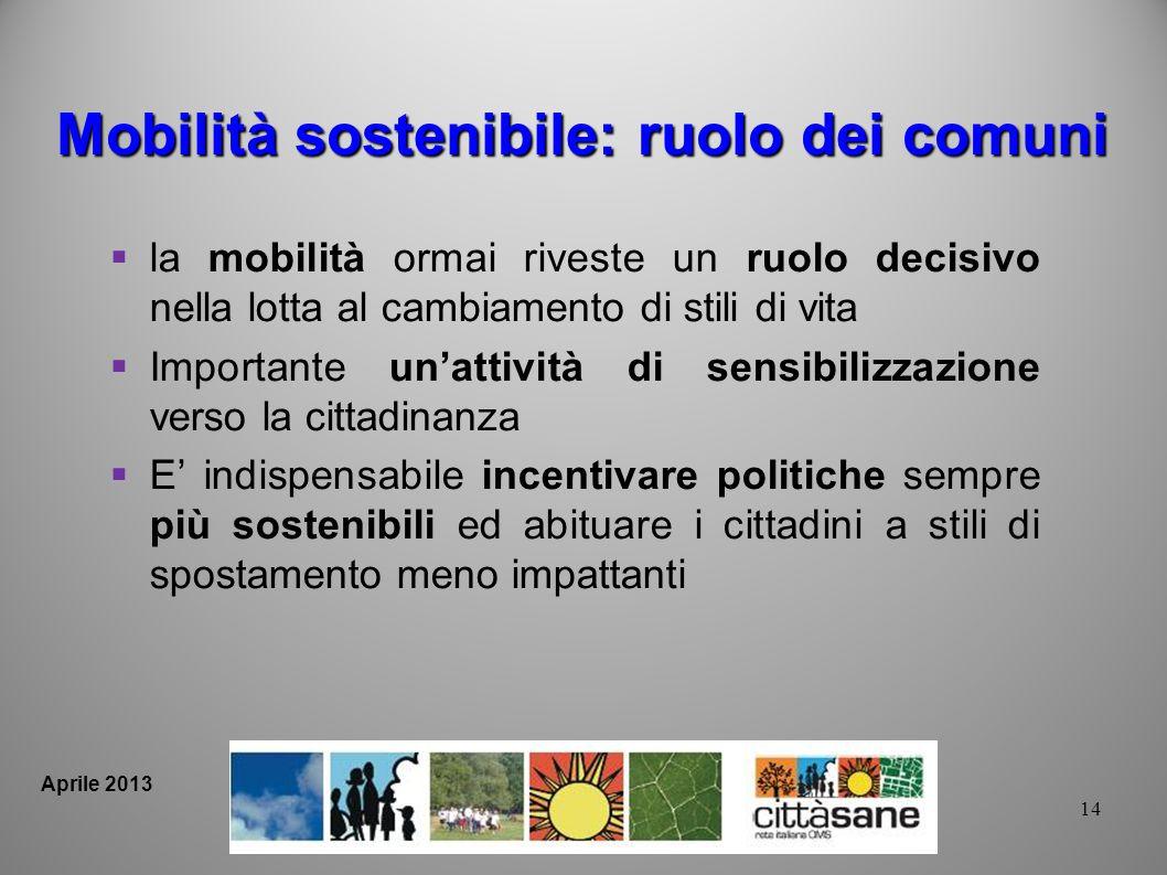 Mobilità sostenibile: ruolo dei comuni