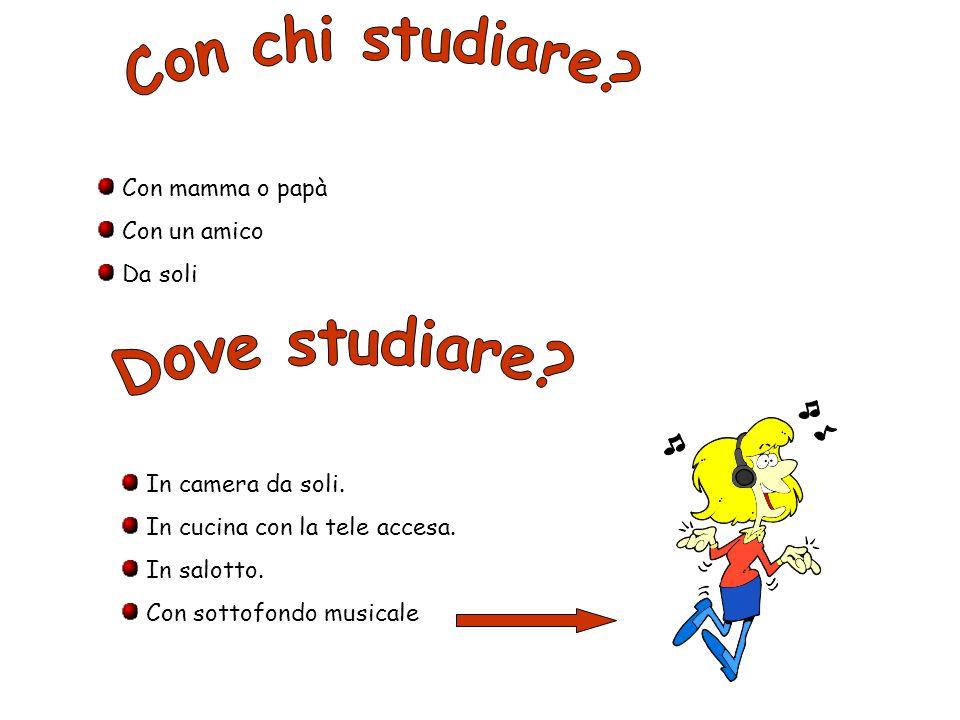 Con chi studiare Dove studiare