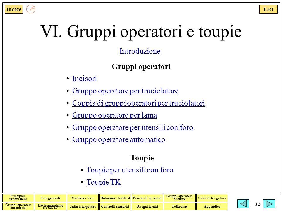 VI. Gruppi operatori e toupie