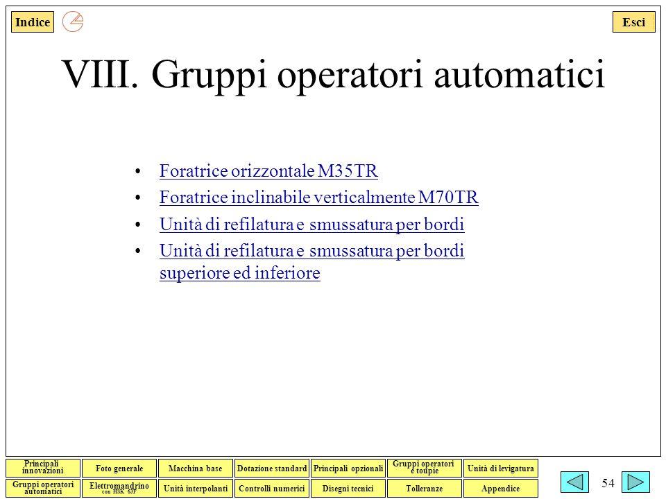 VIII. Gruppi operatori automatici