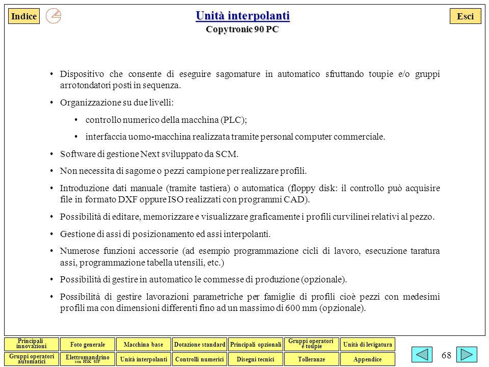 Unità interpolanti Copytronic 90 PC