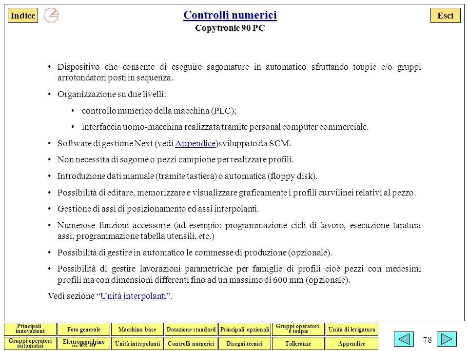 Controlli numerici Copytronic 90 PC