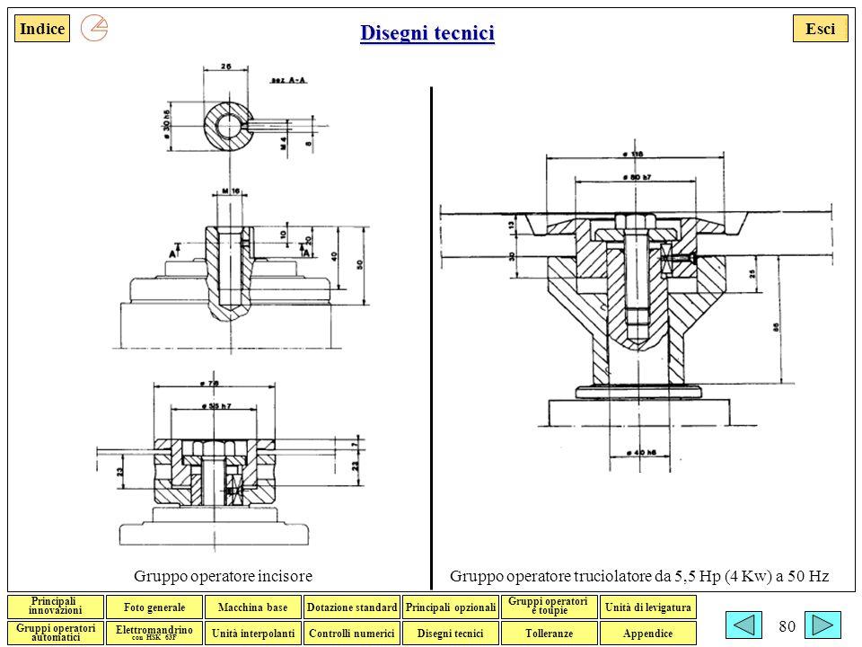 Disegni tecnici Gruppo operatore incisore
