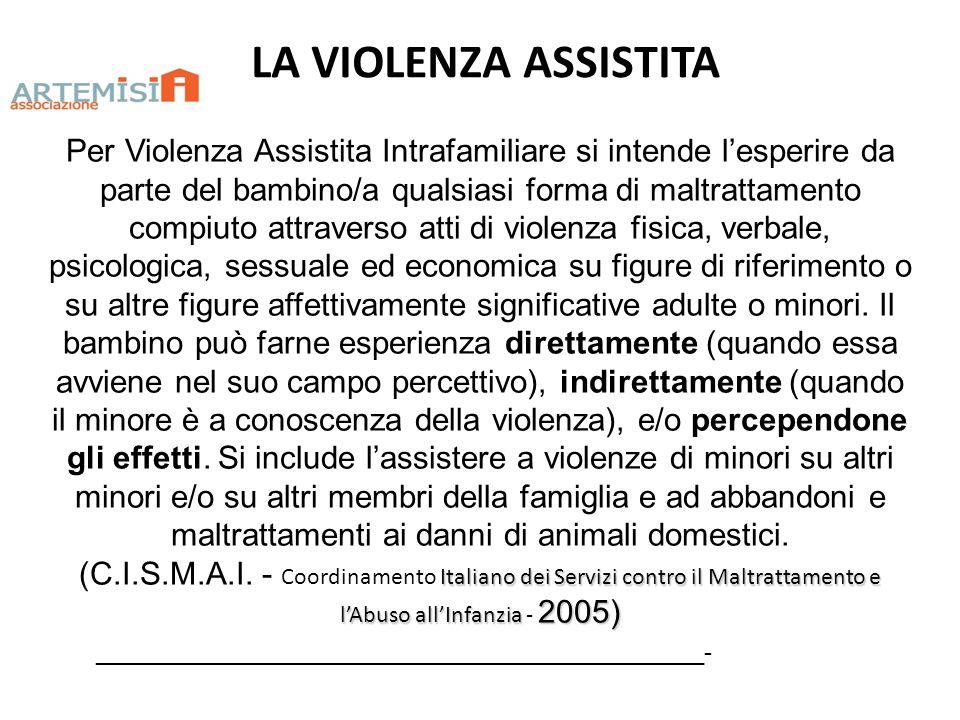 LA VIOLENZA ASSISTITA