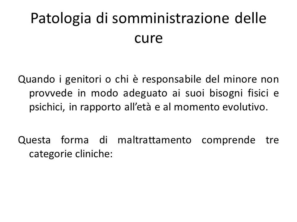 Patologia di somministrazione delle cure