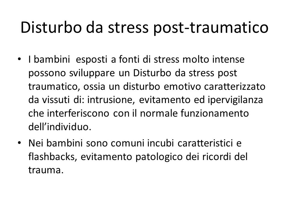 Disturbo da stress post-traumatico