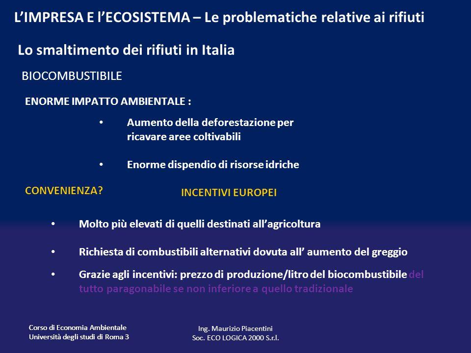 Lo smaltimento dei rifiuti in Italia