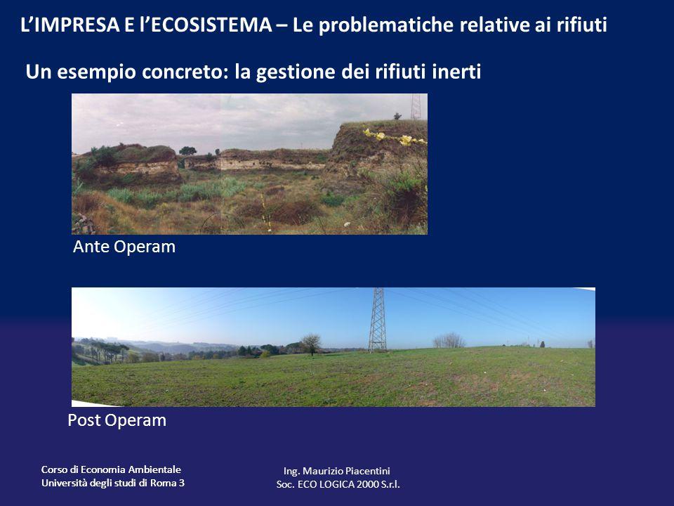 Un esempio concreto: la gestione dei rifiuti inerti