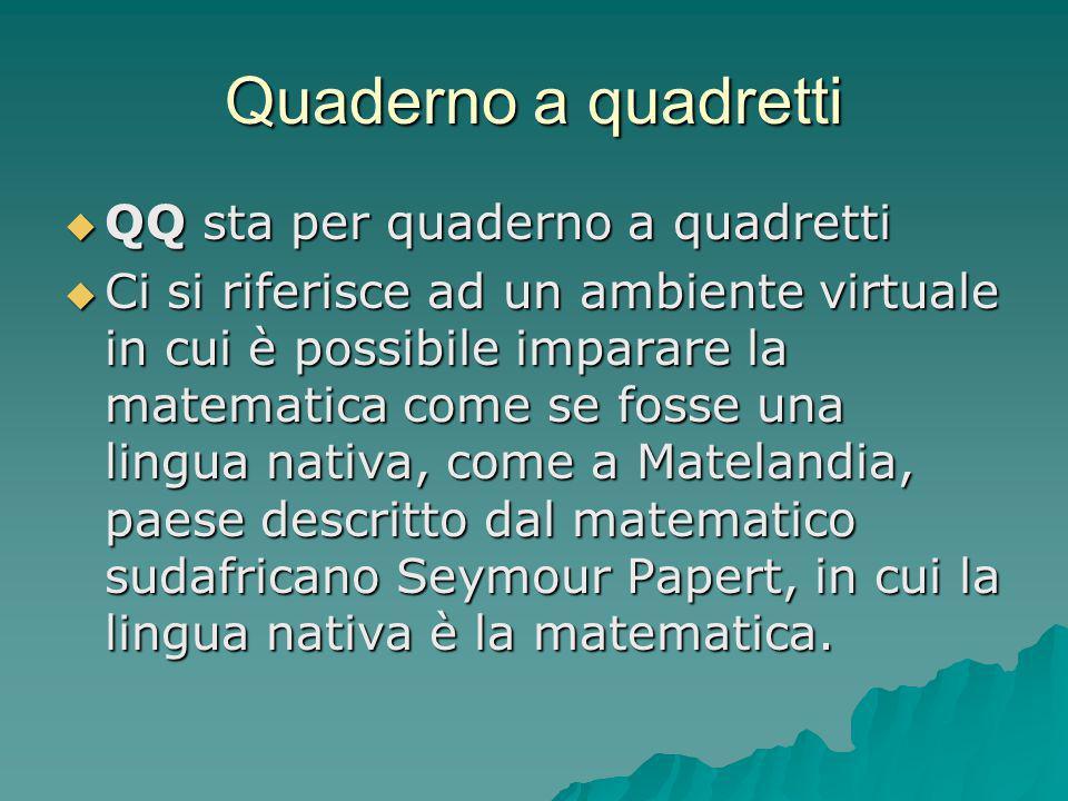 Quaderno a quadretti QQ sta per quaderno a quadretti