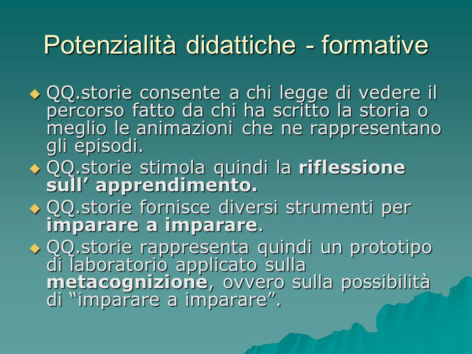 Potenzialità didattiche - formative