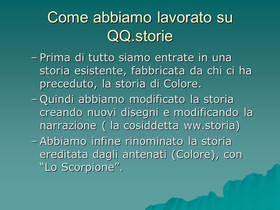 Come abbiamo lavorato su QQ.storie